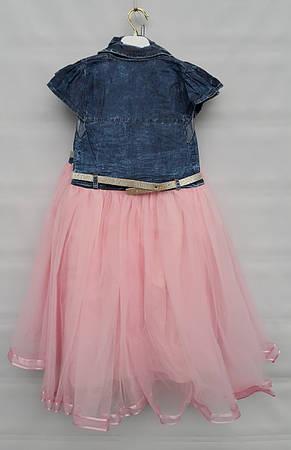 Платье джинсовое на девочек 5-6-7-8 лет Flaviano, фото 2