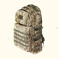 Тактический армейский туристический супер-крепкий рюкзак 60 литров пиксель. Армия, охота, спорт