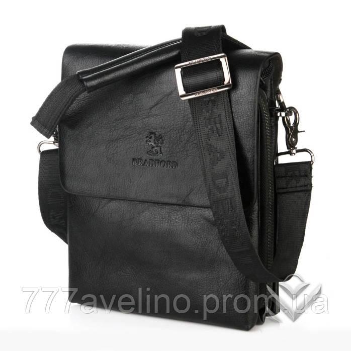Мужская сумка через плечо bradford  18770 -5 черная
