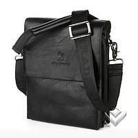 Мужская сумка через плечо bradford черная