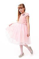Роскошное детское платье для девочки с фатином светло-розового цвета