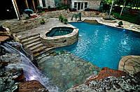Лестница в Бассейн из камня Private Resort