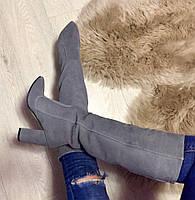 Женские шикарные итальянские замшевые сапоги в стиле Iren Vartik