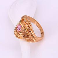 Женское кольцо с позолотой и фианитом, ювелирная бижутерия xuping