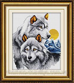"""Набор алмазной вышивки (мозаики) """"Пара волков. Верность"""""""
