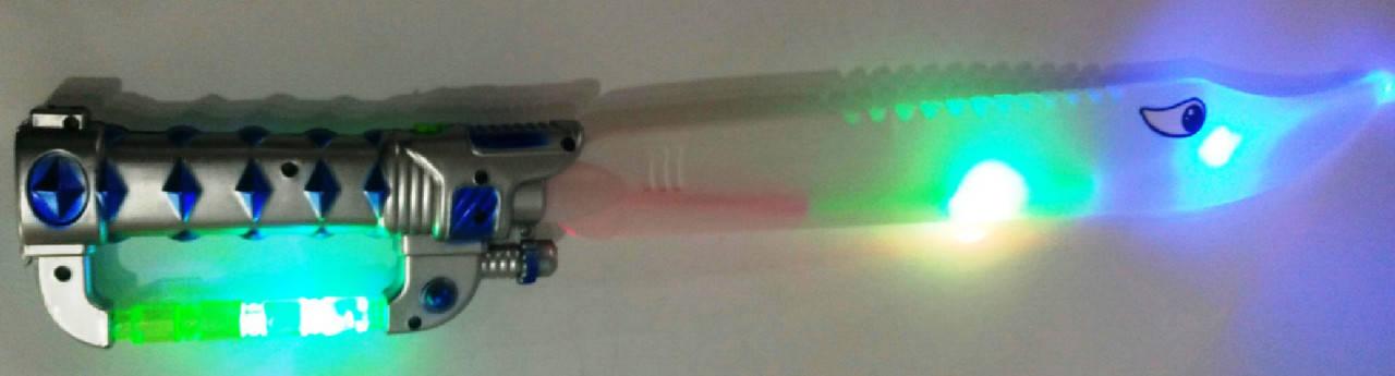 Меч светящийся, звуковой с лазером 35см микс, фото 2