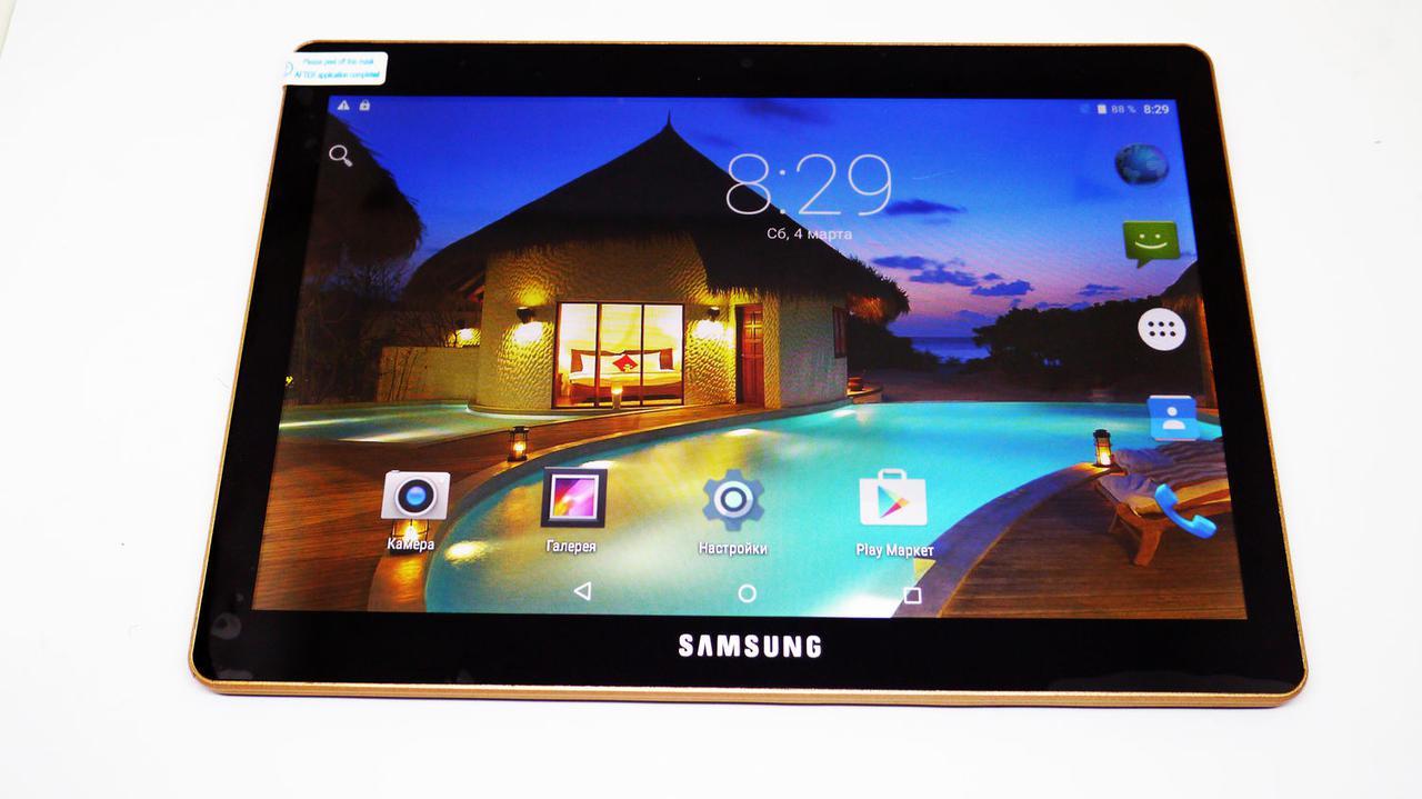 Планшет телефон Samsung Galaxy Tab на 2Sim Black 10.1 дюйма,8 Ядер,2GB/16Gb (Китай)
