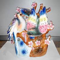 Статуэтка Птицы на ветке, фарфор, 25*23см