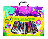 ПОВРЕЖДЕН ЧЕМОДАН Crayola Inspiration Art Case Набор Крайола для творчества 140 предметов розовая упаковка