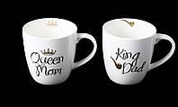 "Кружка Фарфоровая ""King Dad, Queen Mom"" 520мл (577-524), фото 1"