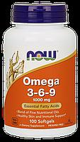 Омега / Omega 3-6-9, 1000 мг 100 капсул, фото 1