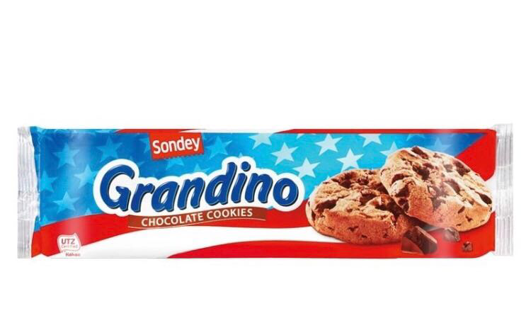 Печенье Sondey Grandino Chocolate Chip Cookies 150g, фото 2