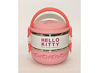 """Термос детский для еды """"Hello Kitty"""" с 2 отделениями 1,4л. T83"""