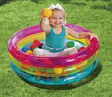 Бассейн 48674 детский с шариками в комплекте (50 шт), размером (86 х 25 см), фото 3