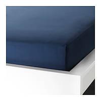 Простыня натяжная, темно-синий, 180x200 см IKEA ULLVIDE 703.427.26