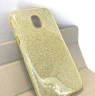Силиконовая накладка Gliter для Samsung J530 (Gold)