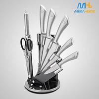 Набор кухонных ножей 8 в 1 Royalty Line RL-KSS600 на подставке 8 ножей