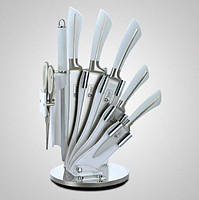 Набор кухонных ножей 8 в 1 Royalty Line RL-KSS750 на подставке 8 ножей