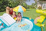 """Детский надувной игровой центр с горкой и навесом """"Крокодил Гоша"""" Intex 57129 203х173х89 см, фото 3"""