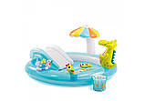 """Детский надувной игровой центр с горкой и навесом """"Крокодил Гоша"""" Intex 57129 203х173х89 см, фото 5"""