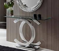 Стол консольный Chanel, 1200х350х900 мм. из стекла