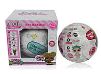 Игрушка сюрприз кукла LOL surprise doll с аксессуарами Pink White / игрушка лол