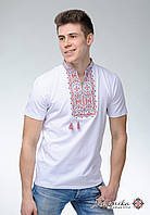 Вишита футболка на короткий рукав білого кольору «Король Данило (вишнева вишивка)», фото 1