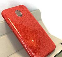 Силиконовая накладка Gliter для Samsung J730 (Red)