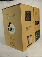 Кабель витая пара UTP 4x2x0,50mm биметалл Ritar КНП Cat. 5e 100м (бухта) для наружной прокладки