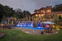 Каменная печь с Водопадом Приватный Курорт