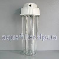 """Корпус фильтра для систем Aquafilter 10"""" прозрачный 1/4"""" max 6 атм, фото 1"""