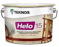 Лак уретан-алкидный TEKNOS HELO 15 яхтовый (полуматовый) 9 л