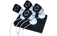 Набор DVR регистратор 4 канальный и 4 камеры UKC DVR CAD D001 KIT NEW / видеонаблюдение для дома офиса склада