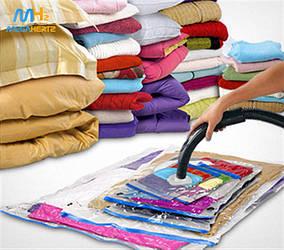 Вакуумні пакети для зберігання одягу 80х120см / великі пакети для зберігання і перевезення речей