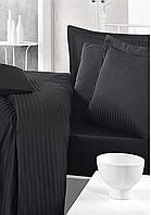 Комплект постельного белья  Clasy сатин Strip размер семейный Siyah