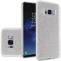 Силиконовая накладка Gliter для Samsung S8 (Silver)