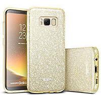 Силиконовая накладка Gliter для Samsung S8 (Pink)