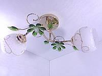 Люстра потолочная на 2 лампочки YR-4106/2-green