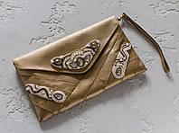 Клатч из кожи Коричневый (pc01)