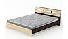Двуспальная кровать Компанит Стиль-160х200 см Венге темно-светлый