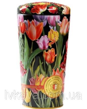 Чай черный и зеленый  цейлонский Ваза с тюльпанами Chelton,ж\б, 100 гр