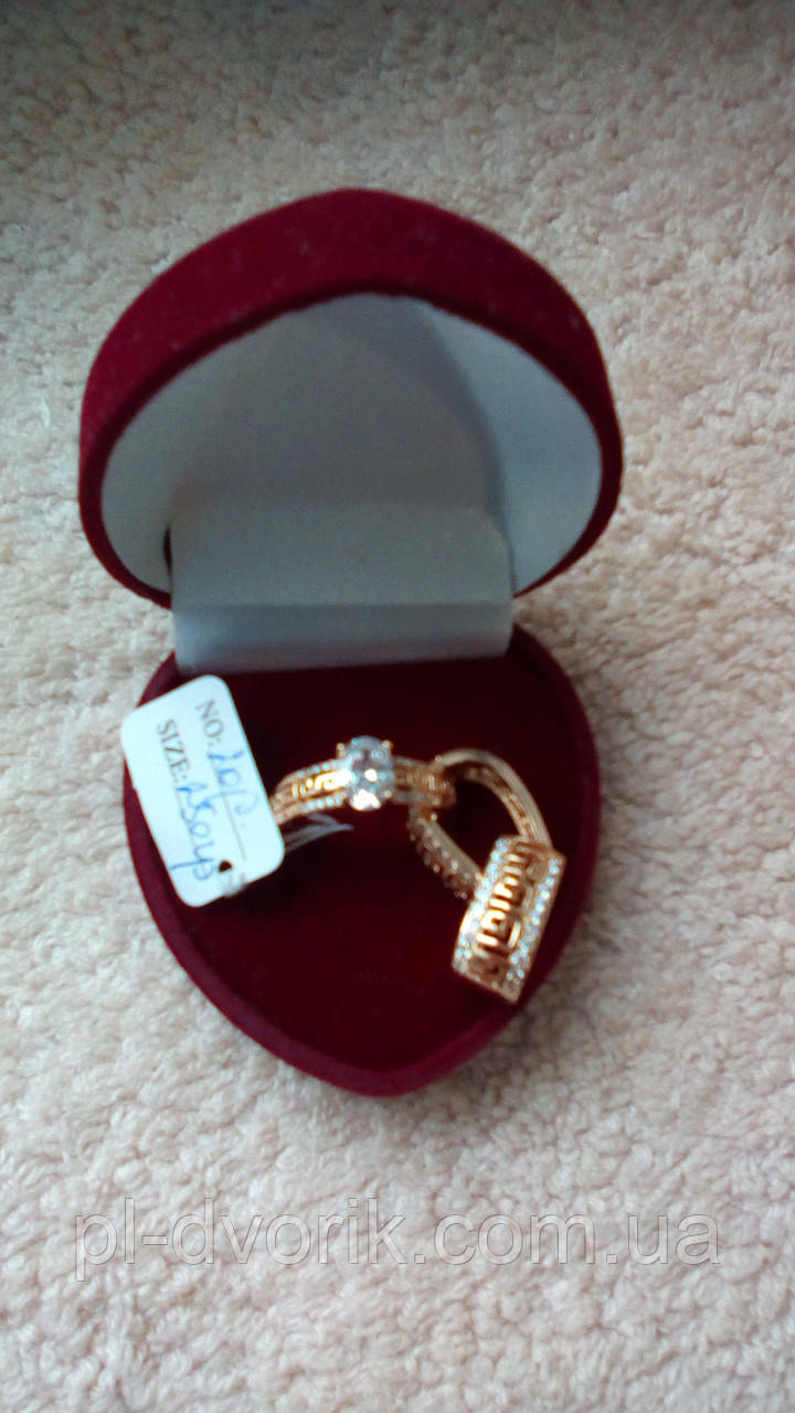 Кольцо с сережками размер 16.17.18.19.20