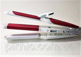 Керамический стайлер, плойка Pro Gemei 3 в 1. Утюжок, гофре, щипцы для укладки волос.