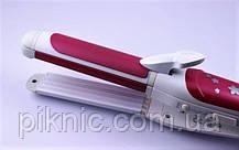 Керамический стайлер, плойка Pro Gemei 3 в 1. Утюжок, гофре, щипцы для укладки волос., фото 2