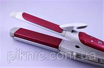 Керамический стайлер, плойка Pro Gemei 3 в 1. Утюжок, гофре, щипцы для укладки волос., фото 3