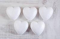 """Пенопластовая фигурка """"Сердце"""" 70 мм, 5шт в упаковке"""