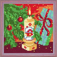 """Схема для вышивания крестом """"Под новогодней ёлкой"""" A-13 15х15"""