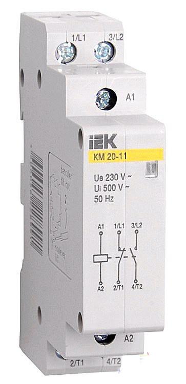 Контактор модульний КМ20-11 AC / DC ІЕК