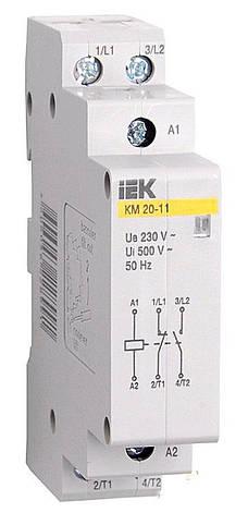 Контактор модульний КМ20-11 AC / DC ІЕК, фото 2