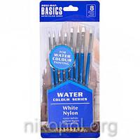 Набор из 8 художественных кистей для красок на водной основе (0815)